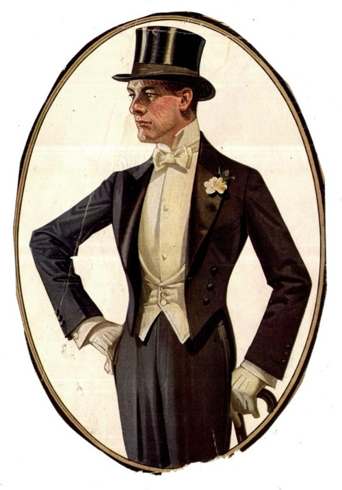 White Tie by J.C Leyendecker, c. 1910s (by newedwardian)