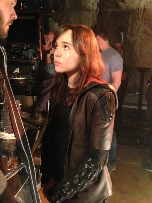 First image of Ellen Page as Kitty Pryde. Thanks to a tweet by Bryan Singer.   X-Men: Days of Future Past