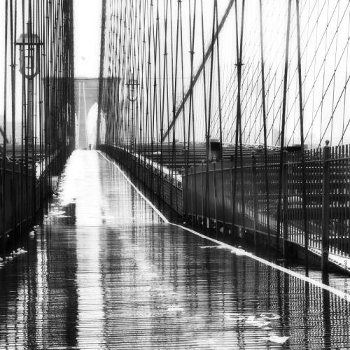 Oleg Moiseyenko  Brooklyn Bridge Rain, NYC, 2010