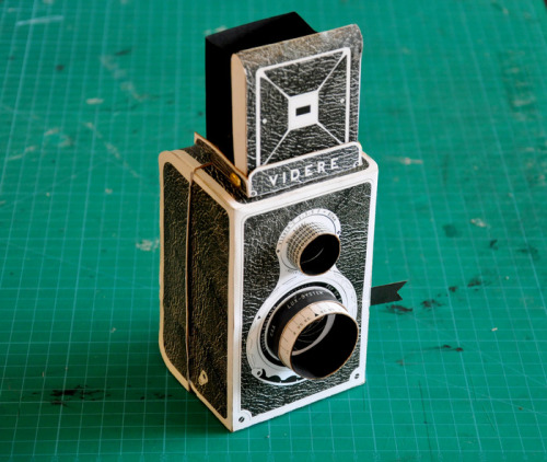 estimfalos:   Make your own medium format camera and learn about pinhole photography in style Kelly Angood, creator:   The Videre works without a lens, instead using a simple pinhole to take photographs onto medium format film. I have translated my original design into a beautiful and hardwearing do-it-yourself kit so that everyone can make their own Videre camera and learn about pinhole photography in style. The kit will be printed and die-cut onto thick recycled card and supplied with easy to follow instructions and a spare medium format spool. I also plan to produce a short instructional video, which will be viewable online alongside a virtual gallery space where pinhole photographs that have been taken with the camera can be submitted.