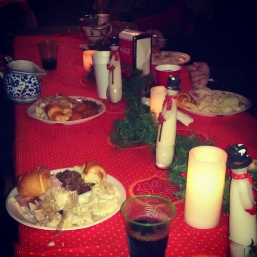 Christmas diner with my family