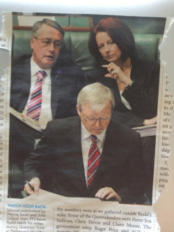 outoftheefryingpan:   Best thing I've found in a newspaper….   ~ Is KRudd a dud?