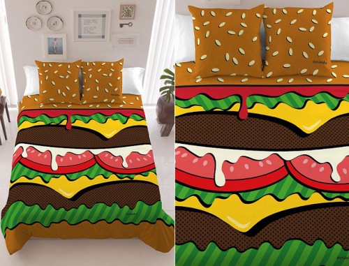 (Finally, A Decent Pop Art Hamburger Bed Cover | Geekologie)