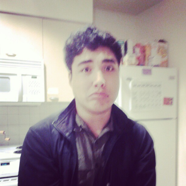 beccachavez:  Sad Kimo is sad. Sorry we can't all go out to dinner tonight…  It's okay…I'll just sit on the couch and eat pizza with Caitlin instead :P