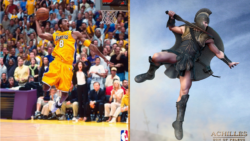 nbadoppelgangers:  Kobe | Achilles Thanks for everything Kobe. (source: David Koven)
