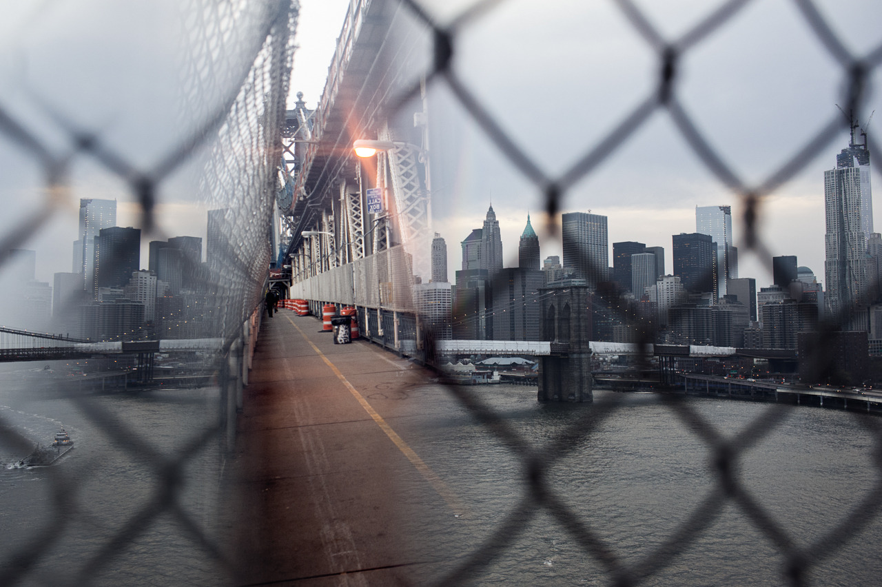 thezartorialist:  single exposure taken from manhattan bridge. glass prism held in front of lens. excerpt from photo series project.
