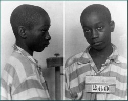 tayelchapo:  youurlove:  Junius Stinney was the youngest person in America to be executed on death row in 1944 at age 14. He was quickly accused by the (white police) of 'killing' two little (white girls) with lack of evidence. His conviction and sentencing opened and closed in one day. There were no witnesses called and there was no transcript of the trial details and black people were not allowed inside the courtroom during that time. [I always repost this because i don't want anyone to forget about him!]