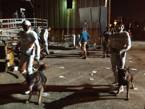 New behind the scenes photo of Catching Fire