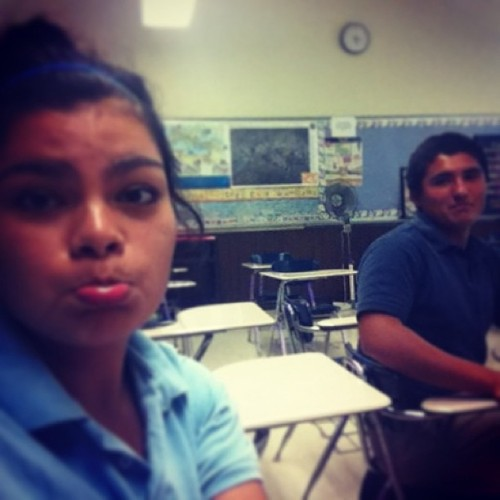 In tutoring with marcos 😞🔫 we cute 😍