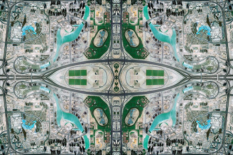 David Thomas Smith's series Antrhopocene re-appropriates ariel Google earth images with photoshop into a stylized 'persian rug' pattern, the result is spectacular.