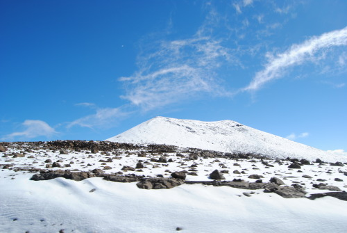 Snow in Hawaii (on Mauna Kea)