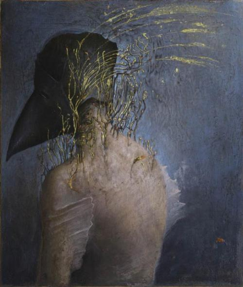 "rfmmsd:  Artist: AGOSTINO ARRIVABENE ""Golden Pest -Aurea Peste"" Oil, Gold Leaf on Wood 32 cm x 27 cm 2012"