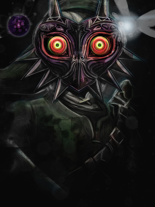 barrettbiggers:  Legend of Zelda Majora's Mask. The Darkness of Link. Digital Painting done in Photoshop. Time: 6 Hours. 16x20 Gliceè Archival Matte Prints for sale on my Etsy store ©2012 Barrett Biggers.
