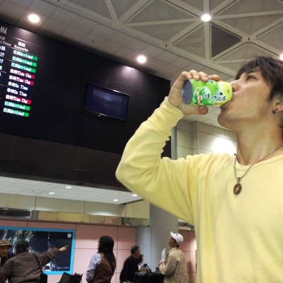 starting by drinking a can of tea on Taipei trip!! http://yaplog.jp/dap-style/archive/157