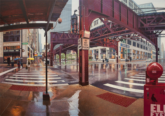 lesbian-a-la-mode:  matt1308:  Realistic Urban Paintings by Nathan Walsh   I see my school!