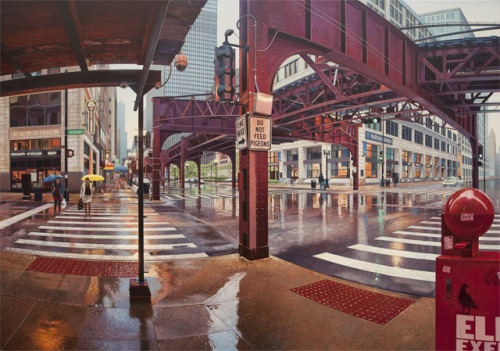 Realistic Urban Paintings by Nathan Walsh