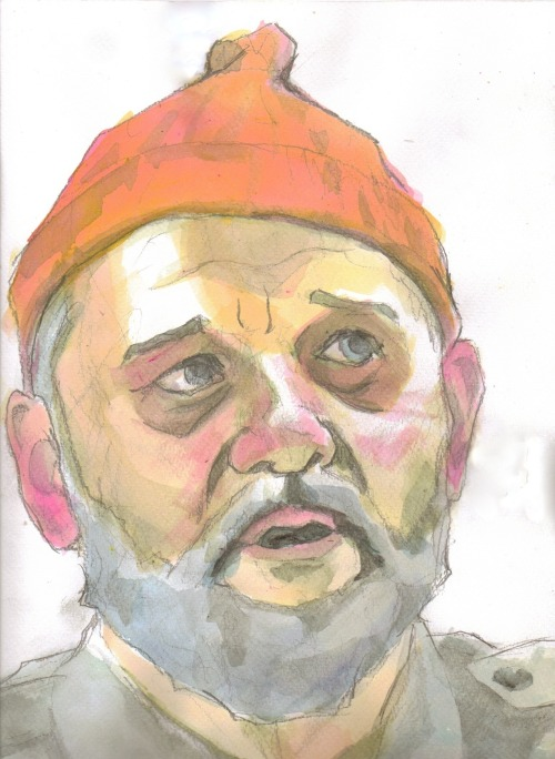 Steve Zissou - watercolor