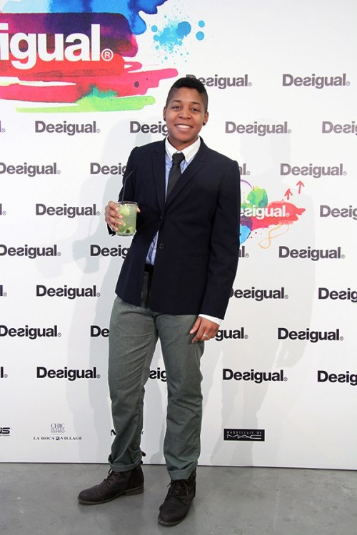 me at the Desigual fashion show!  photo credit to Jessica Chuang