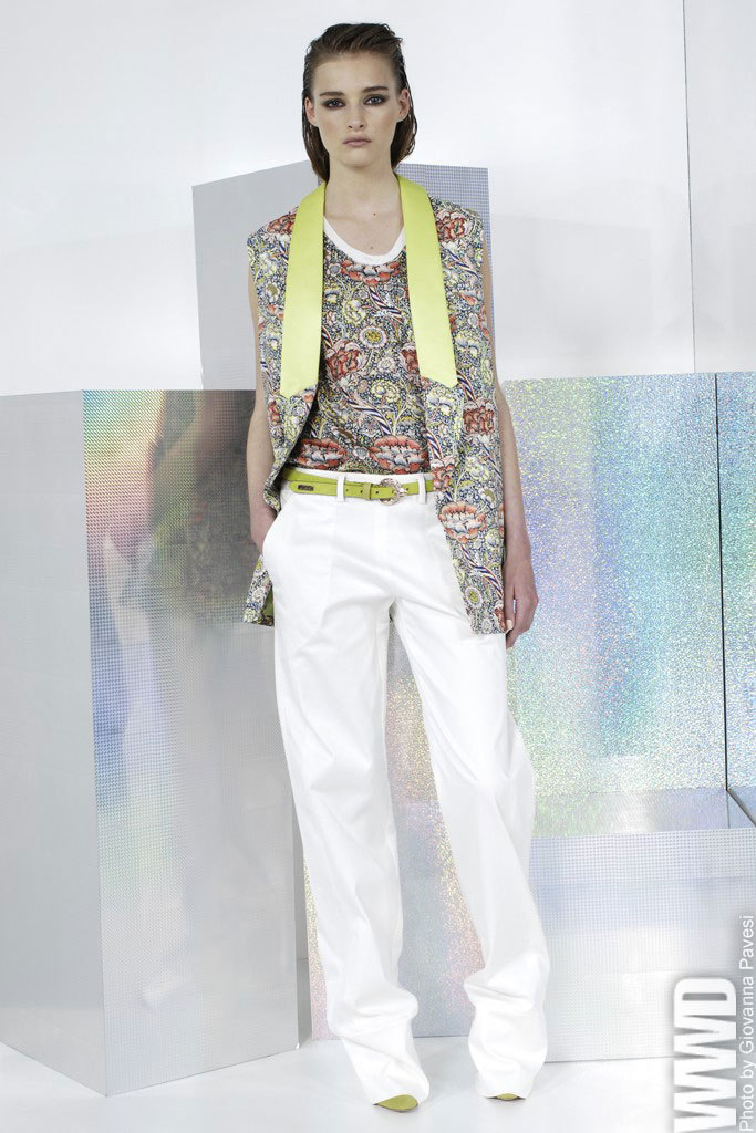womensweardaily:  Just Cavalli Resort 2014 The colorful world of William Morris served as the main inspiration for the brand's young and fun resort collection.  For More