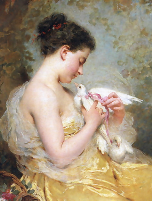 A Beauty With Doves, Charles Chaplin