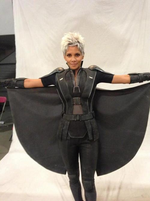 Halle Berry's Storm on the set of X-Men: Days of Future Past
