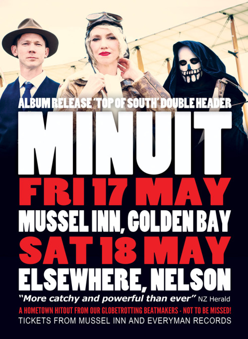 We're coming to Mussel Inn and Elsewhere 17/18 May.Get tickets from Mussel Inn & Everyman Records in Hardy St, Nelson
