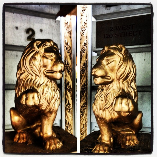 I ain't lion #statue #gold #nyc #manhattan #harlem #lions #architecture #picstitch