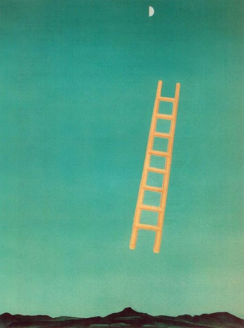 sweetphee:  Georgia O'Keeffe, Ladder to the Moon. 1958