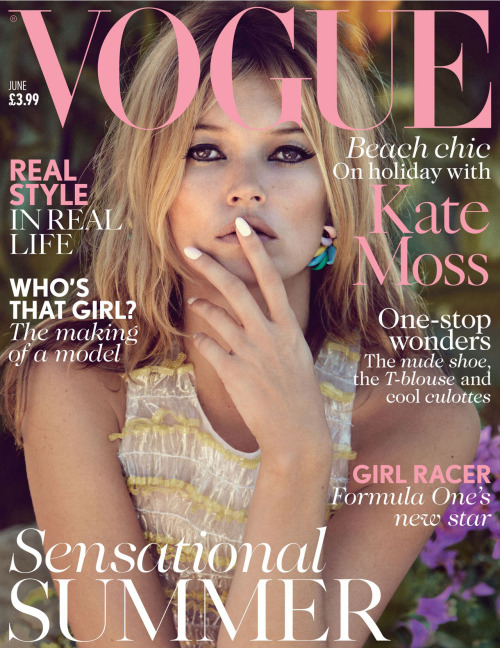 Kate Moss by Patrick Demarchelier for Vogue UK, June 2013