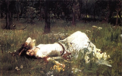 hoodoothatvoodoo:  John William Waterhouse 'Ophelia' 1889