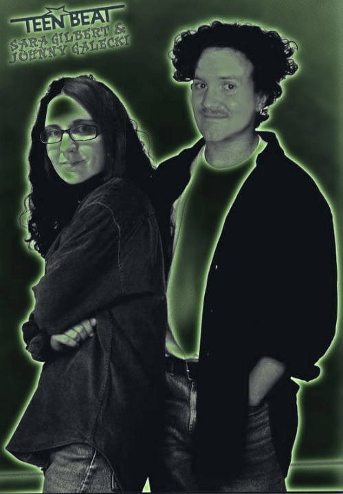 "My girlfriend and me as Roseanne characters on a ""Teen Beat"" poster."