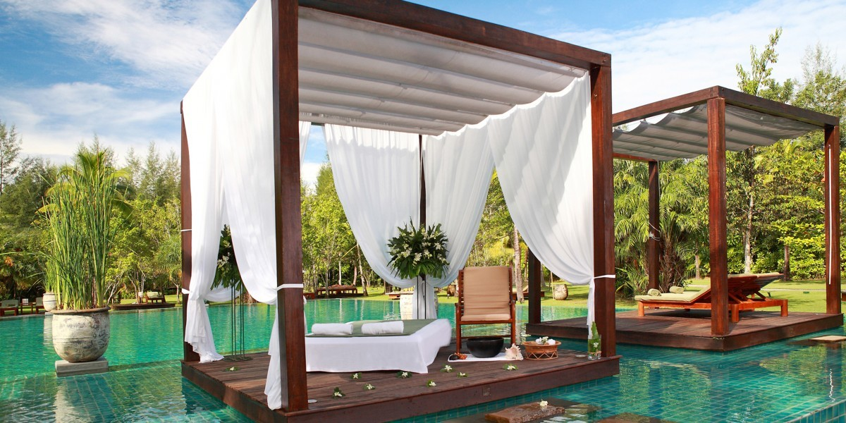 Hang in a cubed-shape cabana at The Sarojin in Thailand.