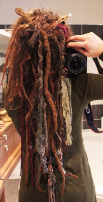 amorelibre:  a dreadlocks update!  My second set now 1 year old!