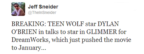 ladyw1nter:   Dylan O'Brien in talks to star in Glimmer  It's happening gaiz.