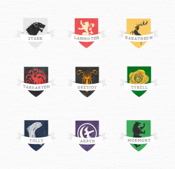 Game of Thrones semi-minimal house sigils by lnochi  Reblog only. Do not repost and/or claim as your own