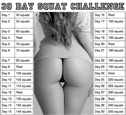 30 Day Squat Challenge! Are you in?