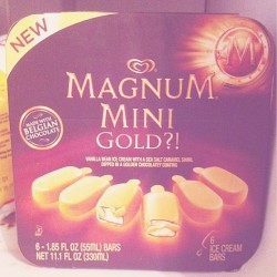 my fav icecream♡  #magnum #icecream #mini #saltedcaramel #mmm #yum #yummy #nomnom #sweets #foodporn #sweetsporn