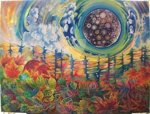 me art sky landscape psychedelic scenery Psychedelic art Spiritual spiritual art knap-kreative
