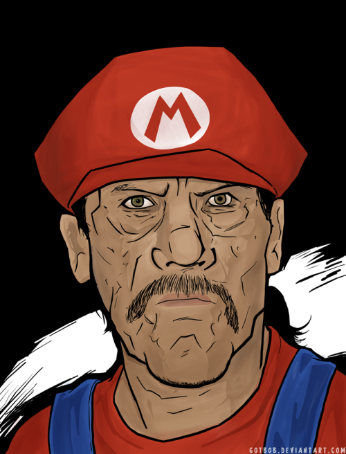 gamefreaksnz:  Danny Trejo as Mario by *Art-of-Bob on deviantART