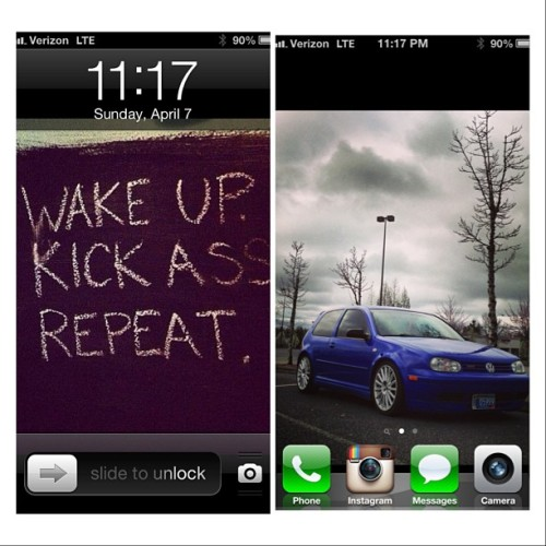 Wake up. Kick ass. Repeat.         #sss #screenshotsunday #screenshot #sunday #motivation #inspiration #motivate #mk4 #gti #bfscar @20thae3956 #jazzblue #20th #20thae #aristos #bby #bbym #workflow #