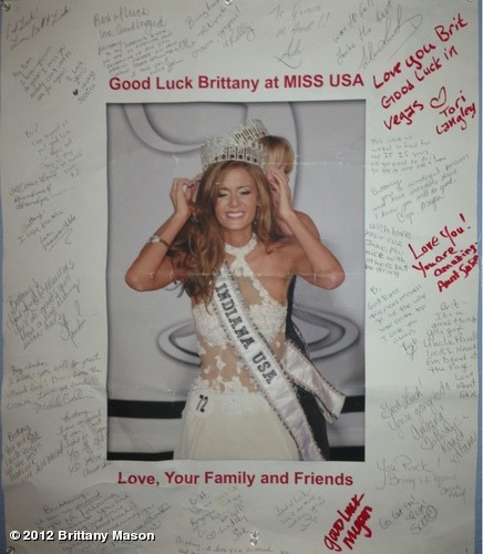 thebrittanymason:  Haha! Oh the memories! #missusa #beauty #pageant #home #indiana View more Brittany Mason on WhoSay