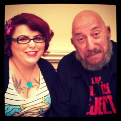 Me with Sid Haig at Motor City Nightmares Convention!