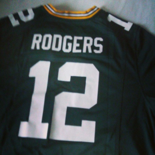 Love my new Packers jersey. #Packers #Rodgers