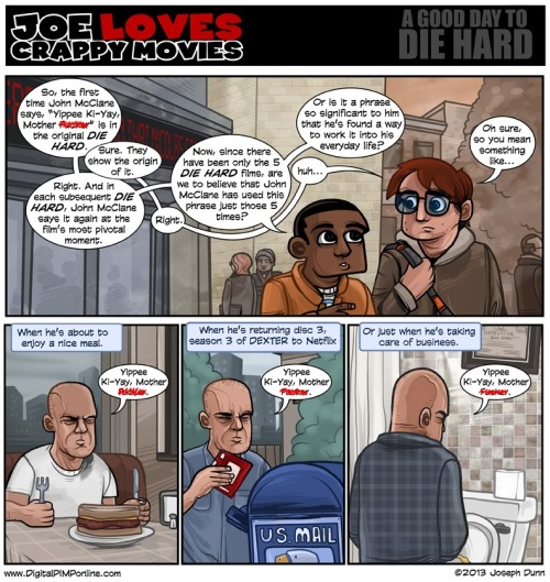 Joe Love Crappy Movies takes a look at Die Hard and catch phrases.