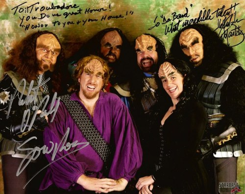 Il Troubadore Klingon Music project (+ their idols). One of the reasons I love guest blogging for Greg Sandow is that I get to meet weirdos like myself.  I love these guys so much.   majQa'!!