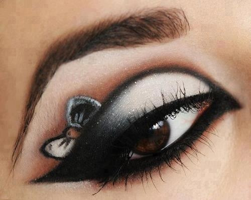 This beautiful bow eye makeup is perfect for parties #makeup-bow-party-beautiful