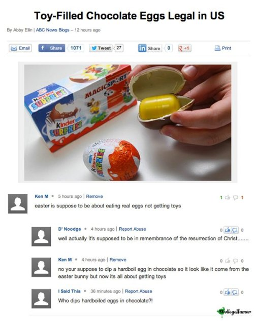 The Troll: Easter, Oral, and Homemade Fruit Roll-Ups [Click for more] I finally understand the true meaning of Easter now.