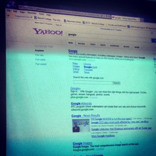 So my #professor just #yahoo searched #google. Someone explain.. Please.