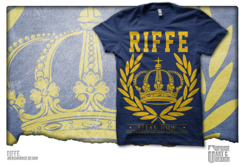 Pre-made Merch Design sold to a new band called Riffe. Any questions/inquiries? Email upriseart@gmail.com