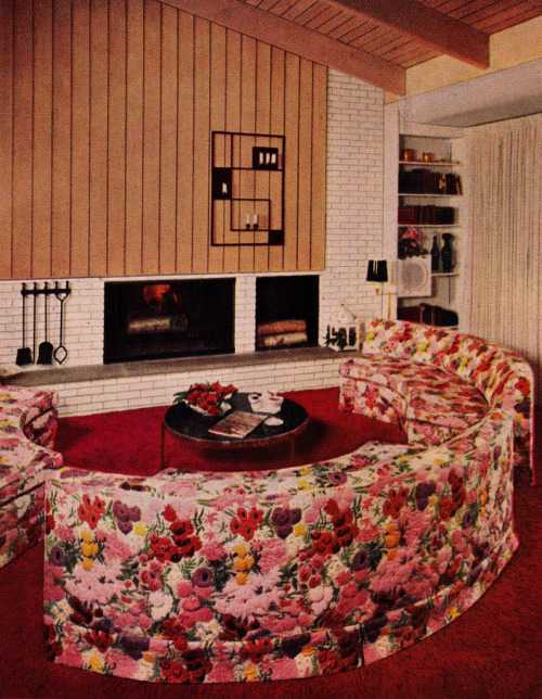 The nifty fifties living room design from the better Better homes and gardens living room ideas